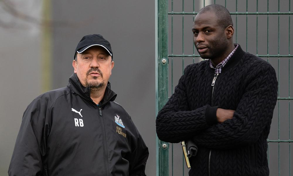 Rafael Benitez and Djimi Traore