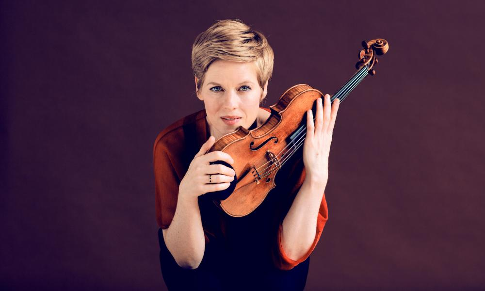 Raw-edged … Isabelle Faust.