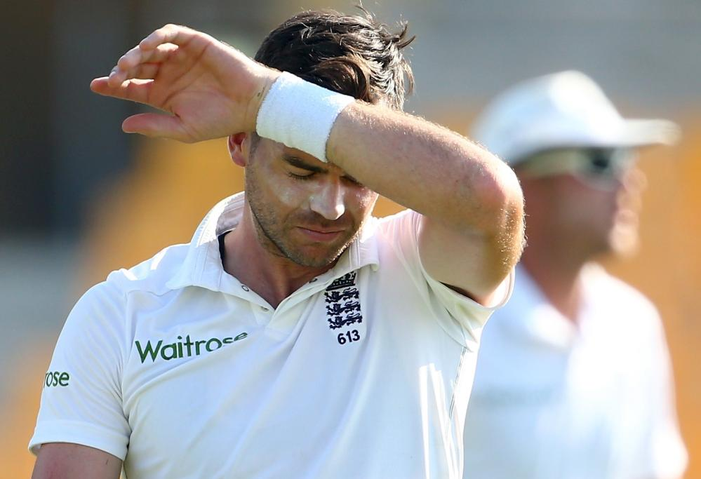 James Anderson doesn't look like he's enjoying it out there.
