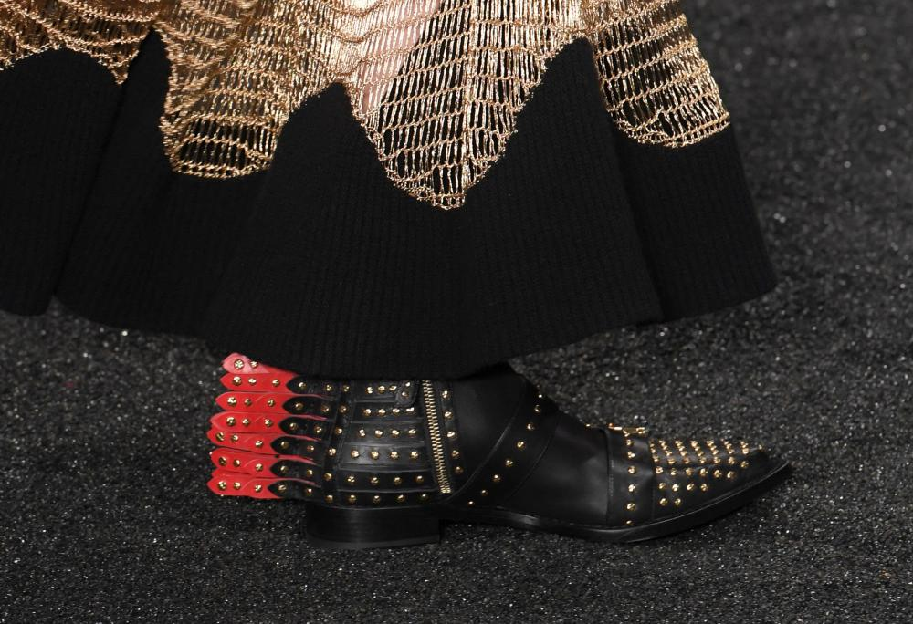 Shoes in the Alexander McQueen show.