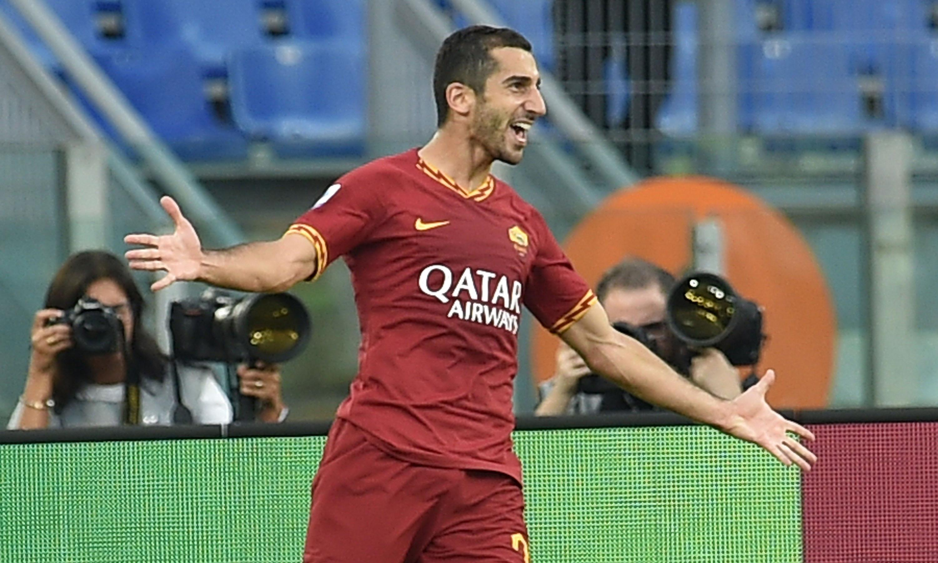 Henrikh Mkhitaryan on target for Roma as Sevilla go top in La Liga