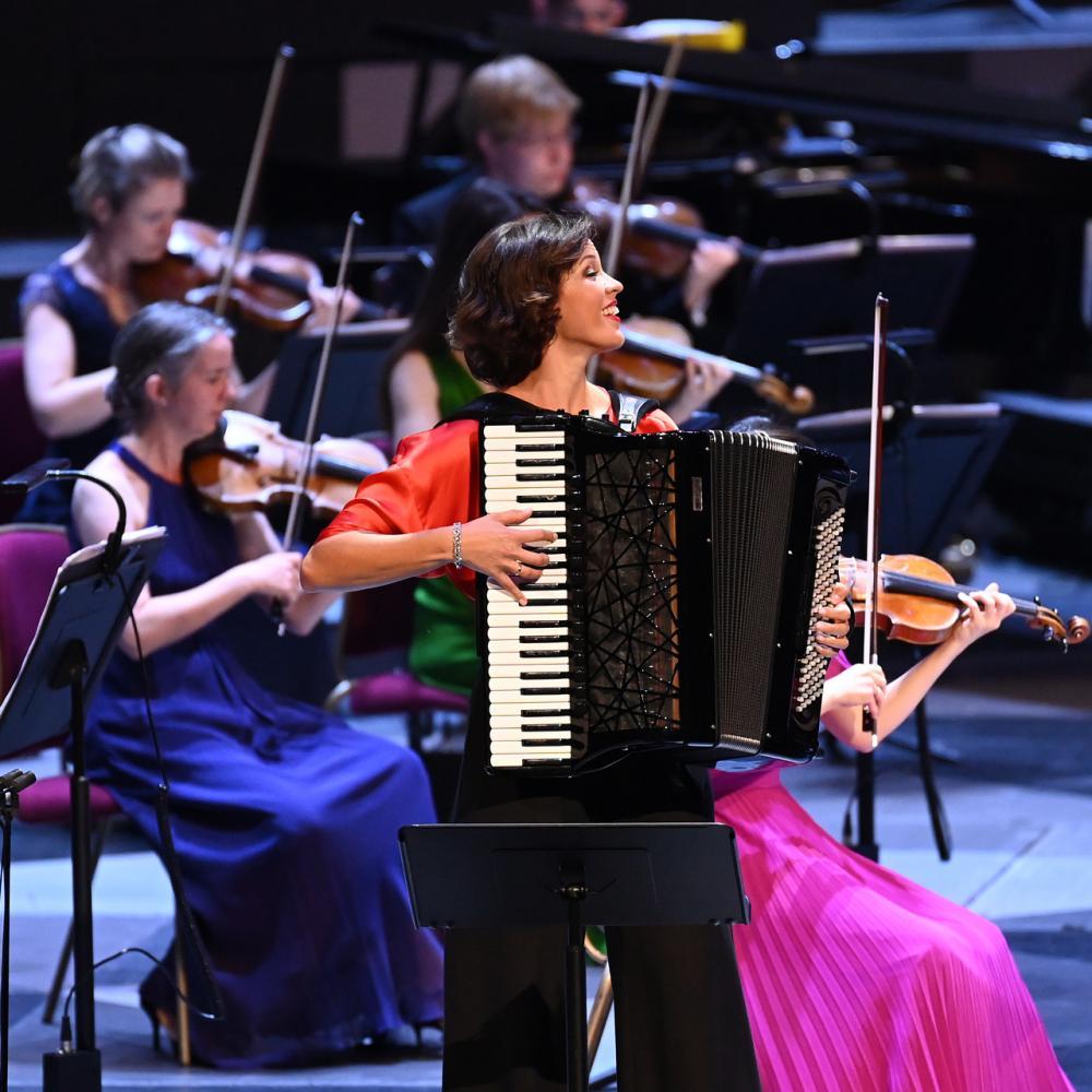 Suave and sultry Piazzolla: Ksenija Sidorova.