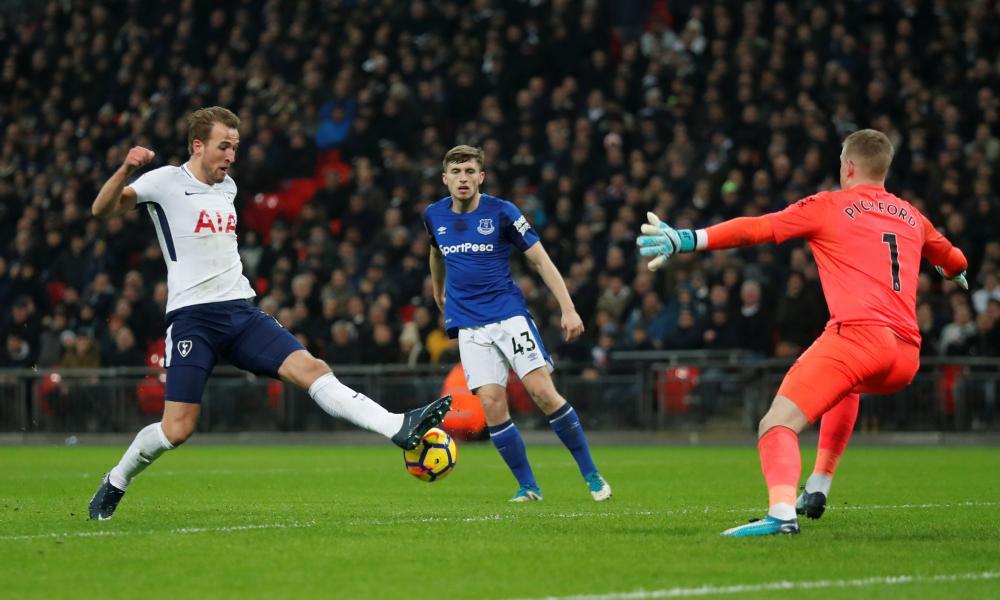 Tottenham's Harry Kane scores their third goal