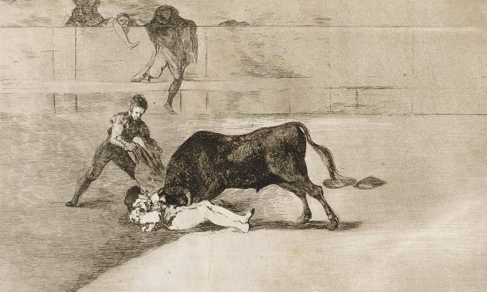 Detail from a La Tauromaquia etching