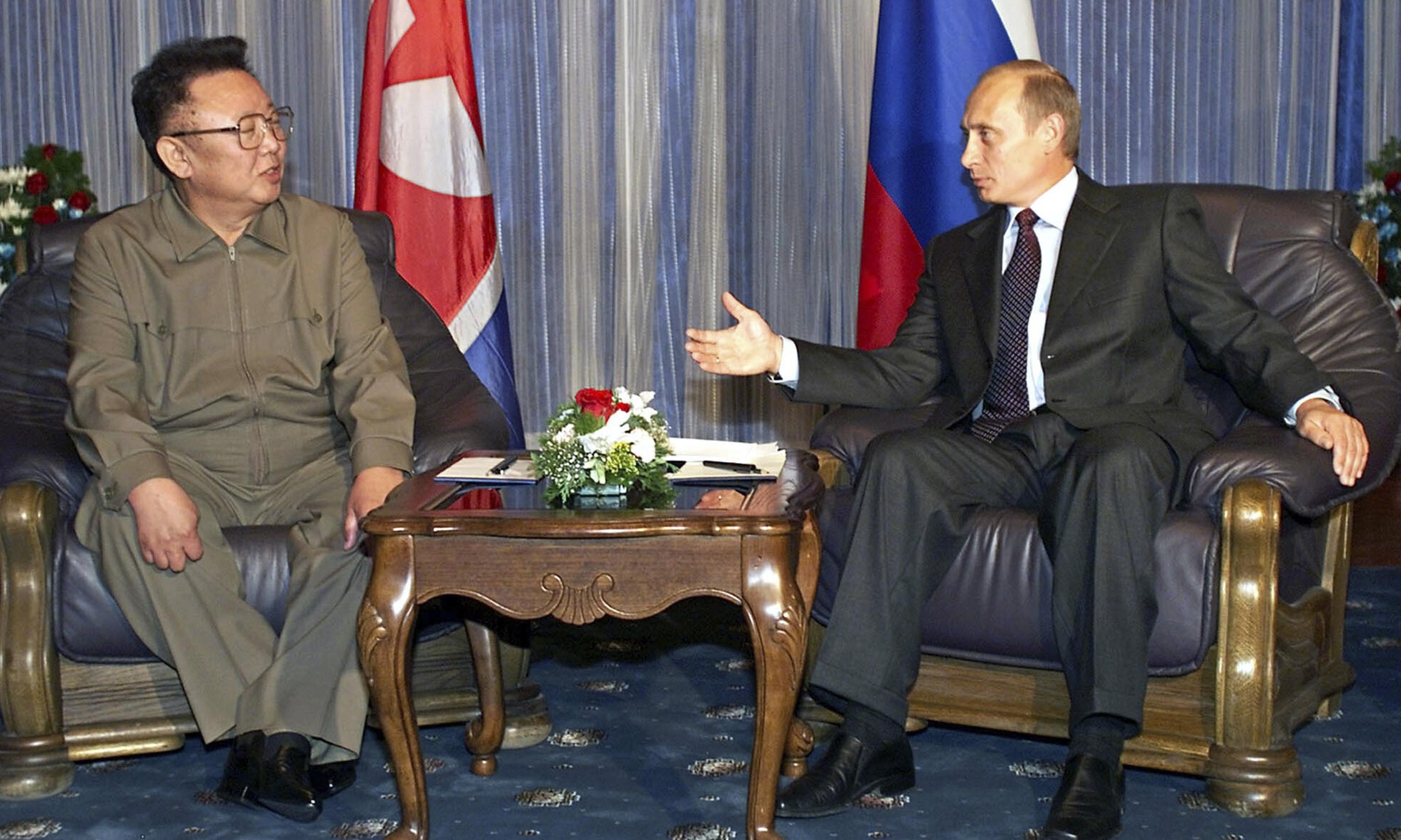 Kim Jong-un meets Vladimir Putin for first time at Vladivostok summit