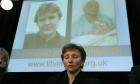 Marina Litvinenko, widow of the former Russian agent Alexander Litvinenko, at a press conference to launch the Litvinenko Justice Foundation in London