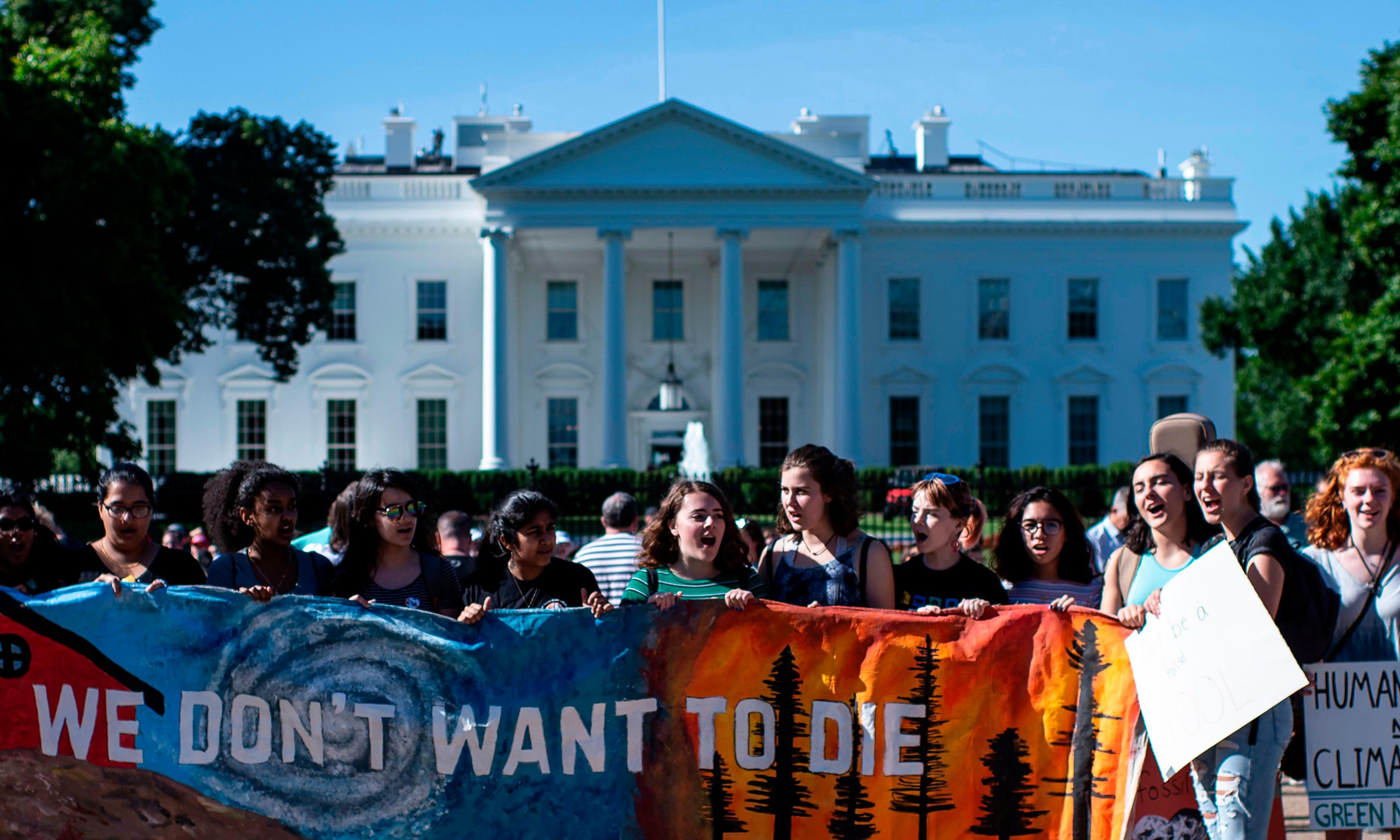 Young protesters at DNC headquarters demand debate on climate crisis