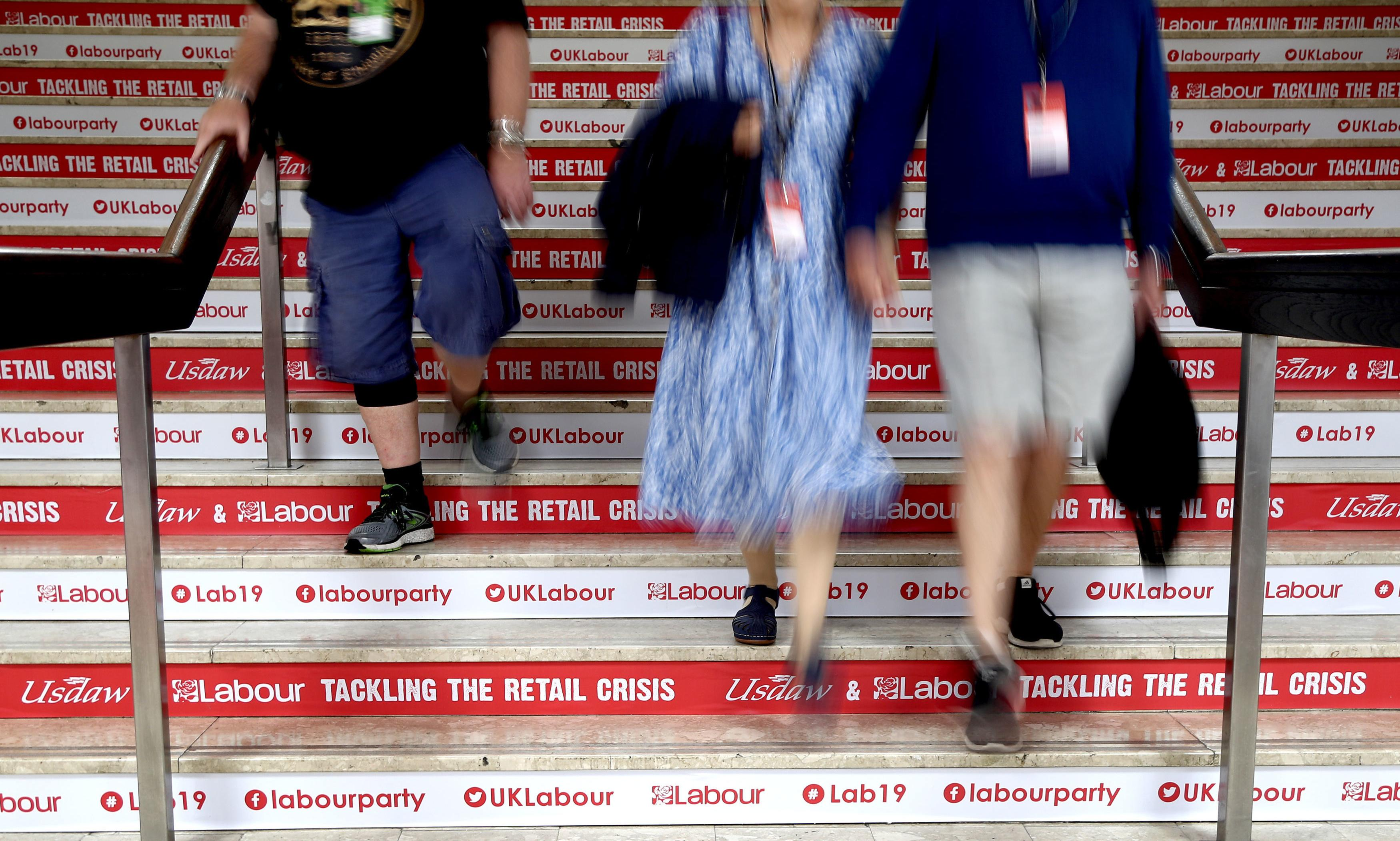 Labour conference: police backtrack after barring two activists