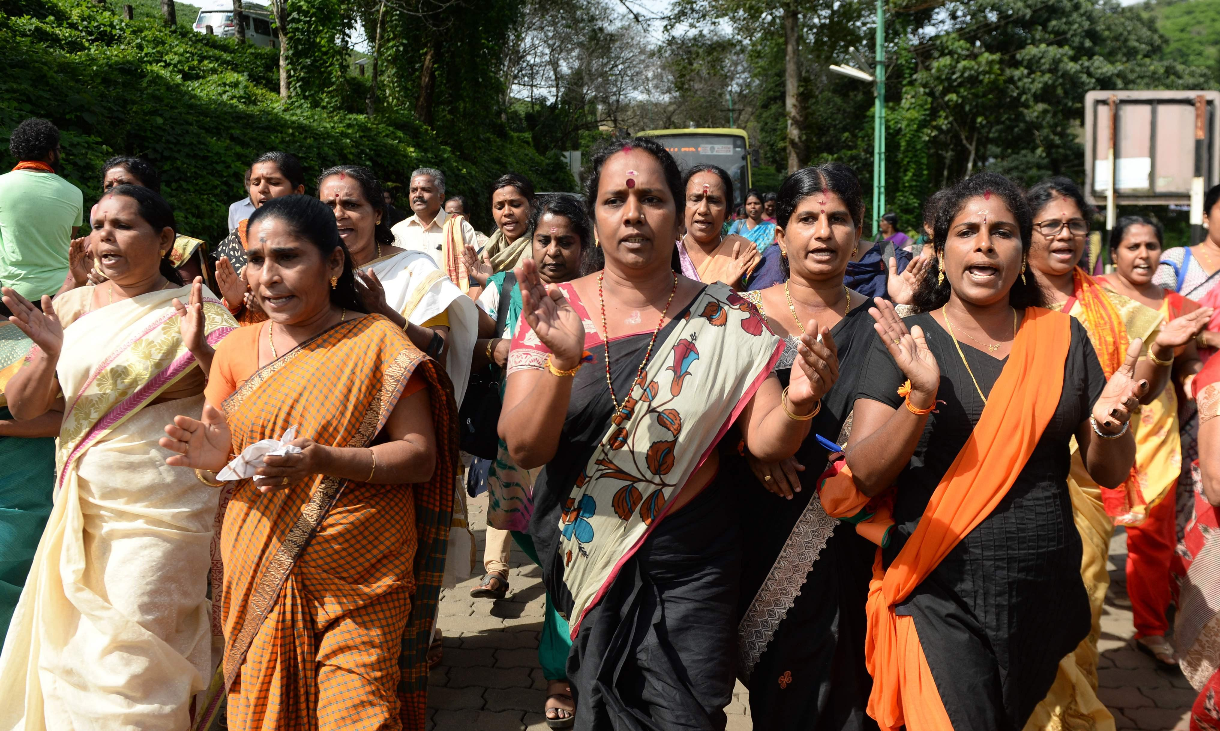 Tensions high in Kerala as Hindu temple opens gates to women