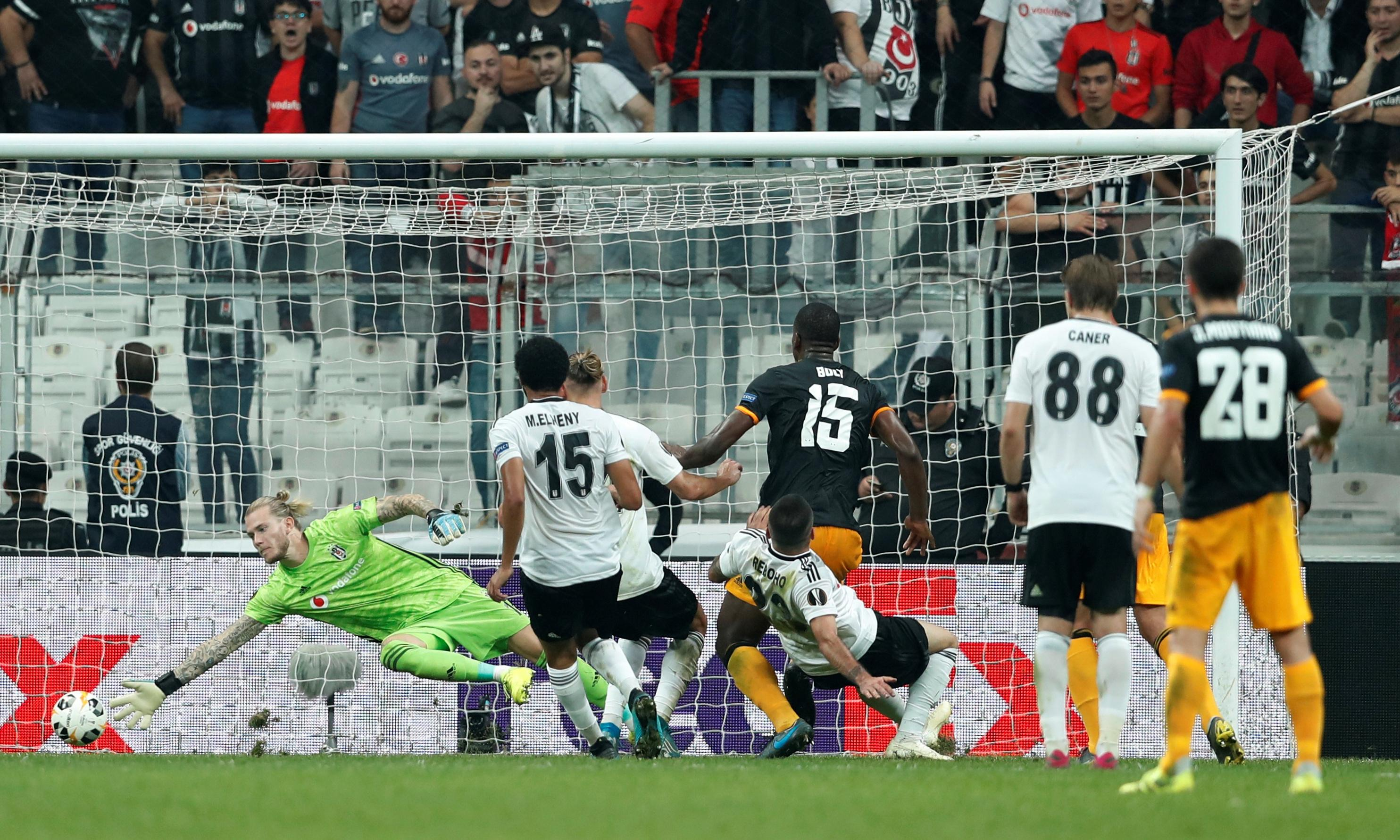 Willy Boly puts Wolves back on track with injury-time winner at Besiktas