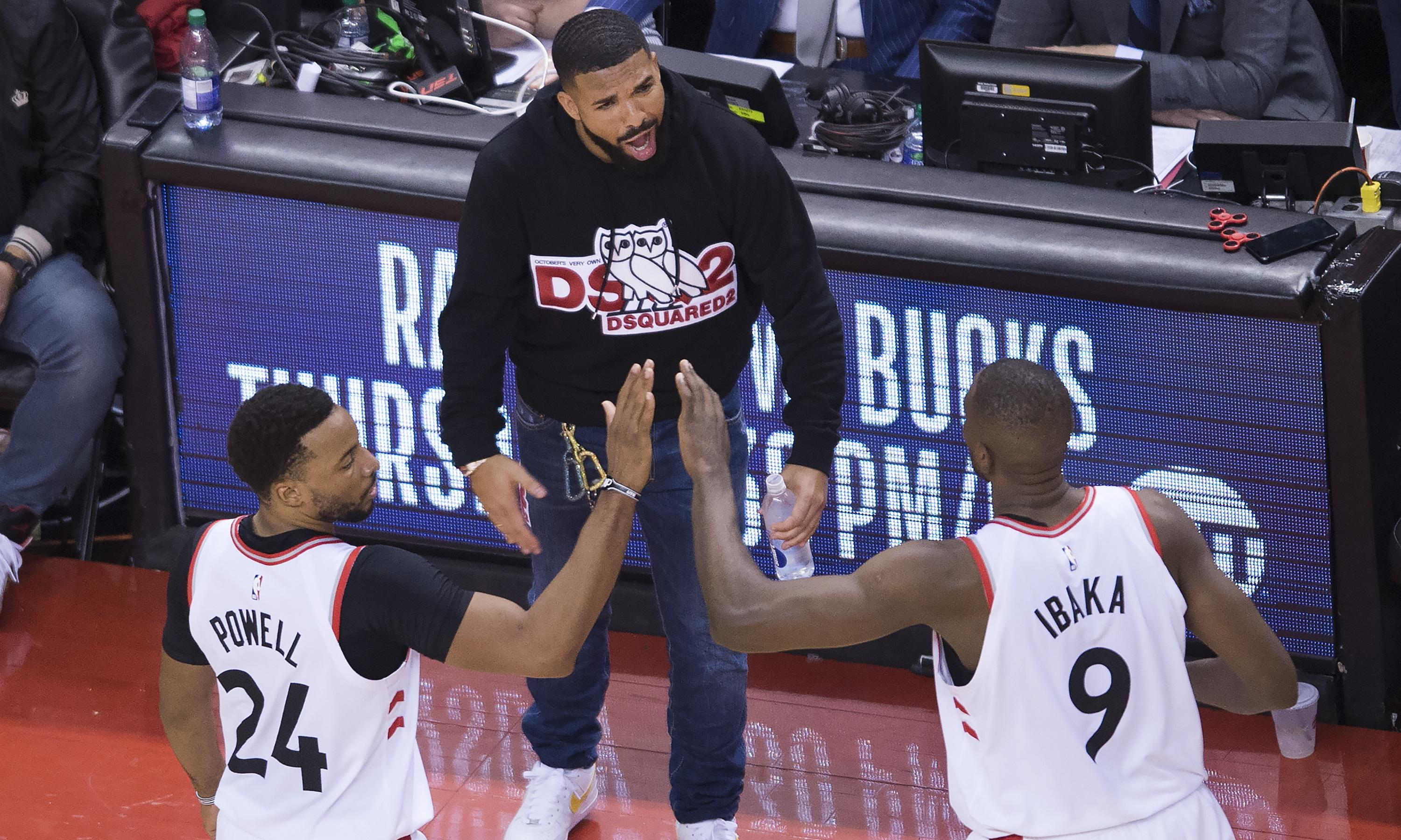Drake v Bucks feud grows as Milwaukee turns its ire on rapper's courtside antics