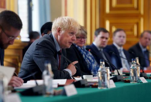 Boris Johnson chairing cabinet this morning