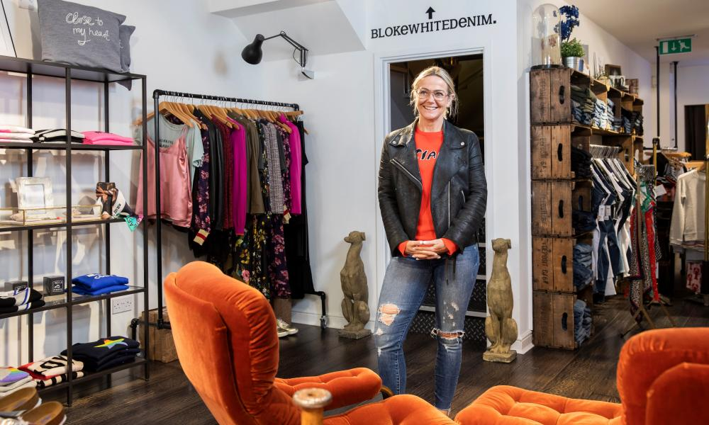 'My shop has become a bit of an extension of my home': Joanne Davies of Black White Denim.