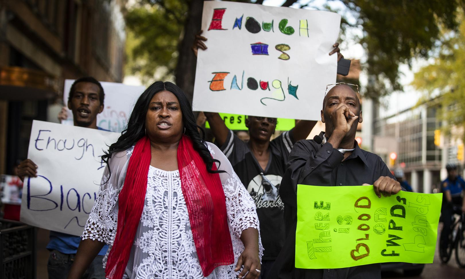 'We will fight back': how the police killing of a black woman in Texas sparked fear and anger