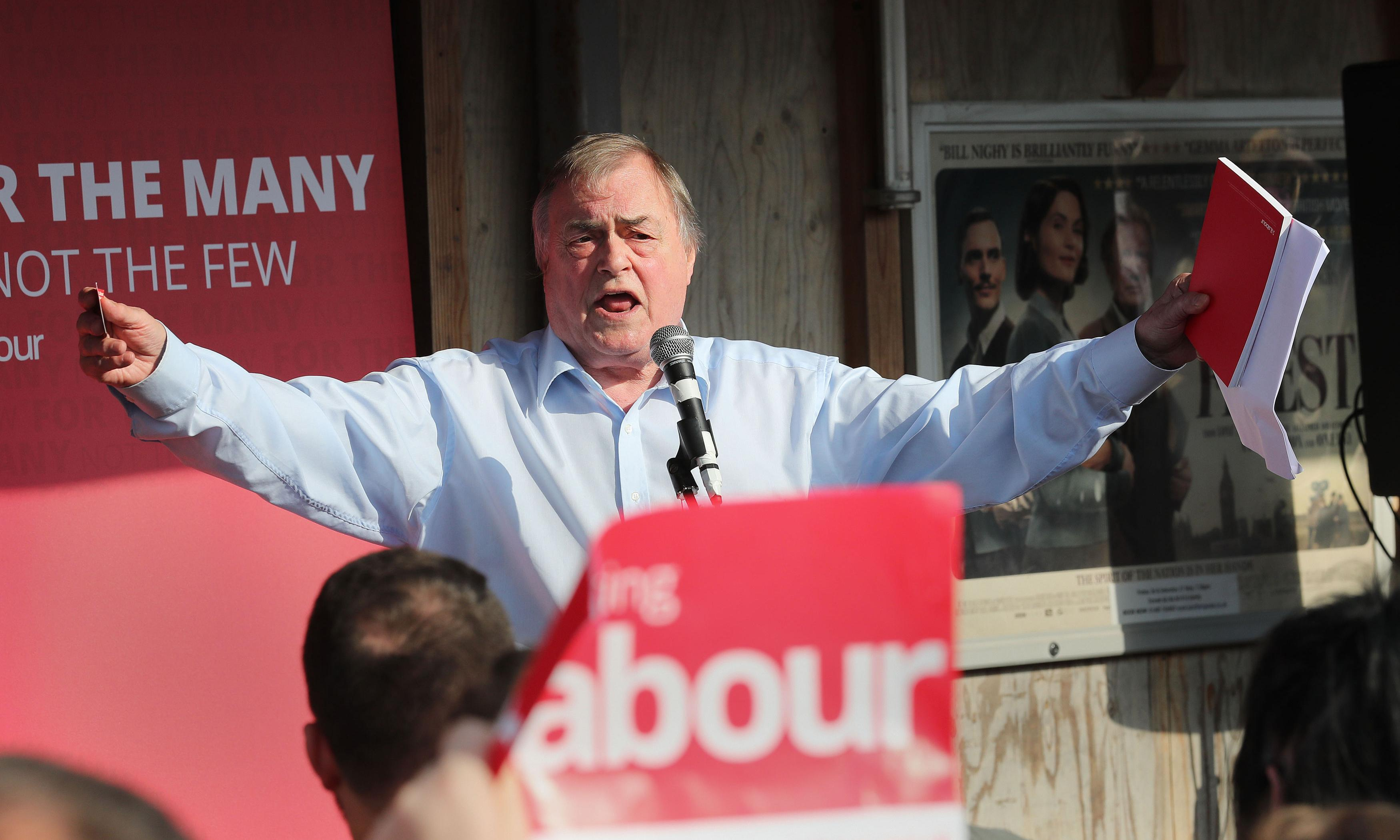 John Prescott admitted to hospital after stroke