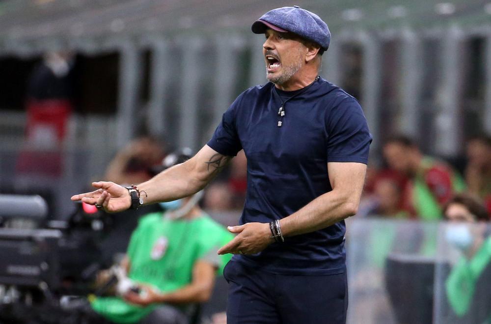 Bologna's head coach Sinisa Mihajlovic