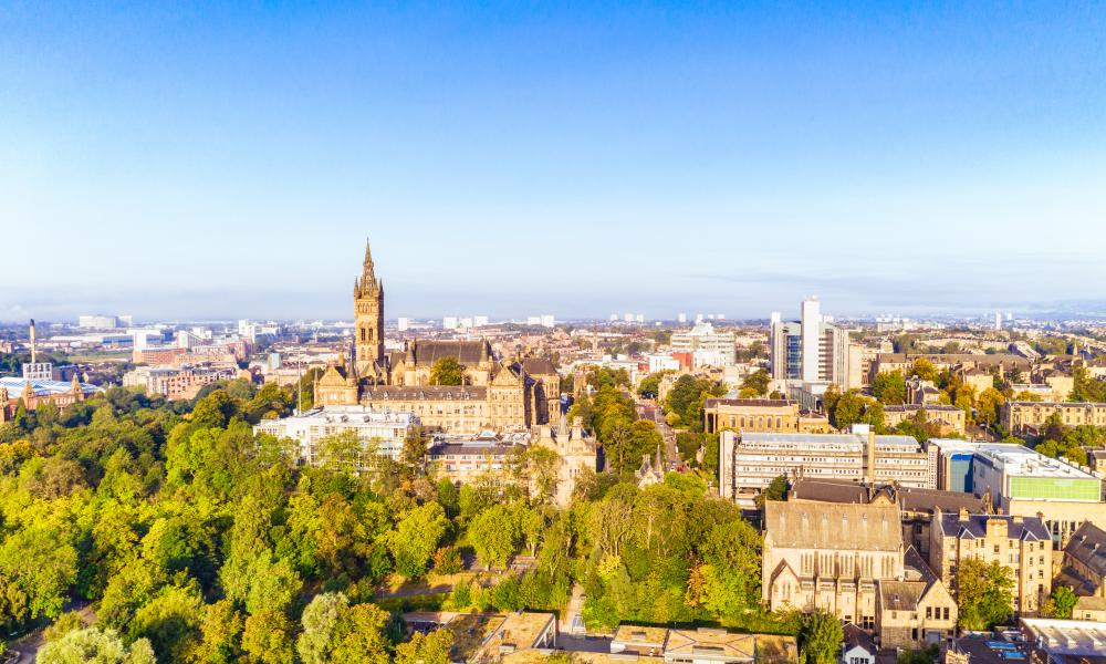 A view of Glasgow's West End. The city will host Cop26 in November.