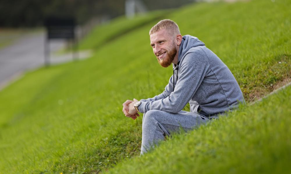 Oli McBurnie, whose father is Scottish, says he and his brother went to school in Leeds 'in Scotland shirts with our face painted in Scotland colours'.