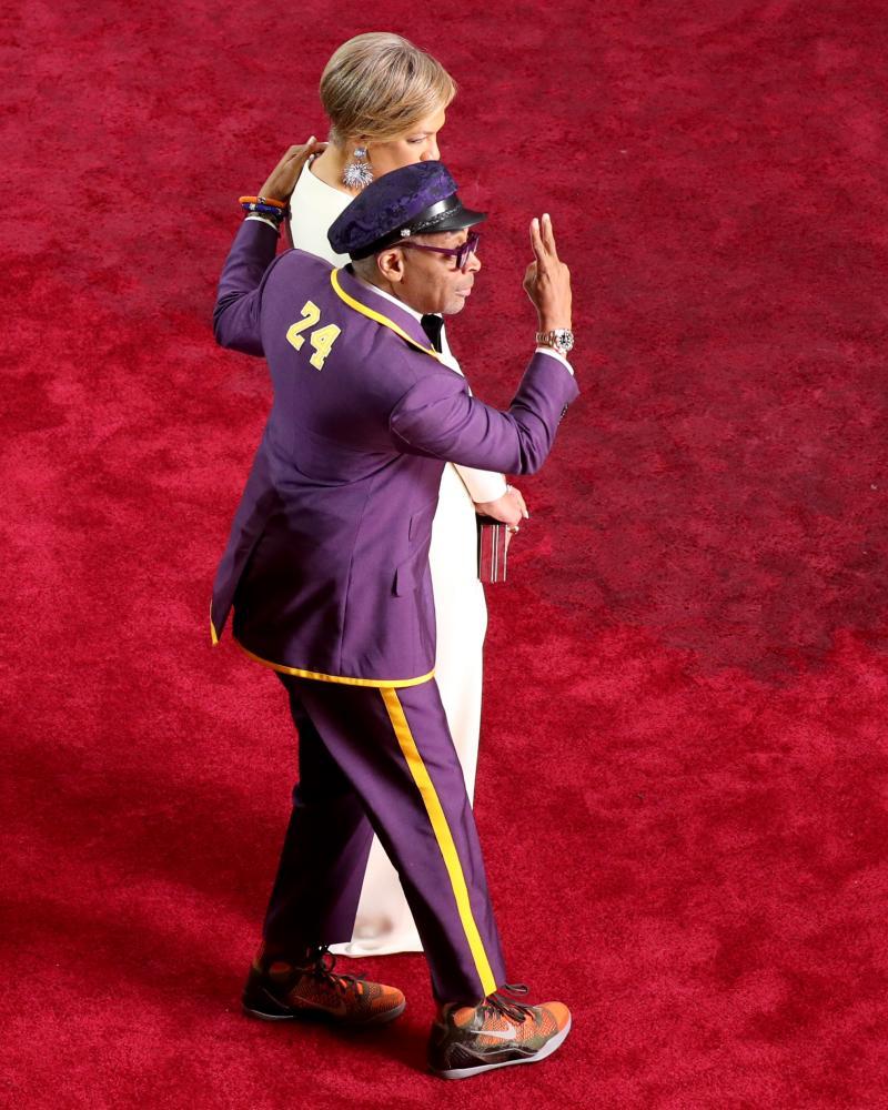 Spike Lee and his wife Tonya Lewis Lee