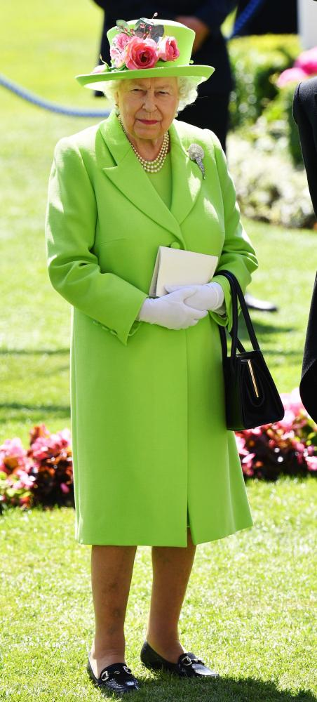The Quuen at this year's Royal Ascot.