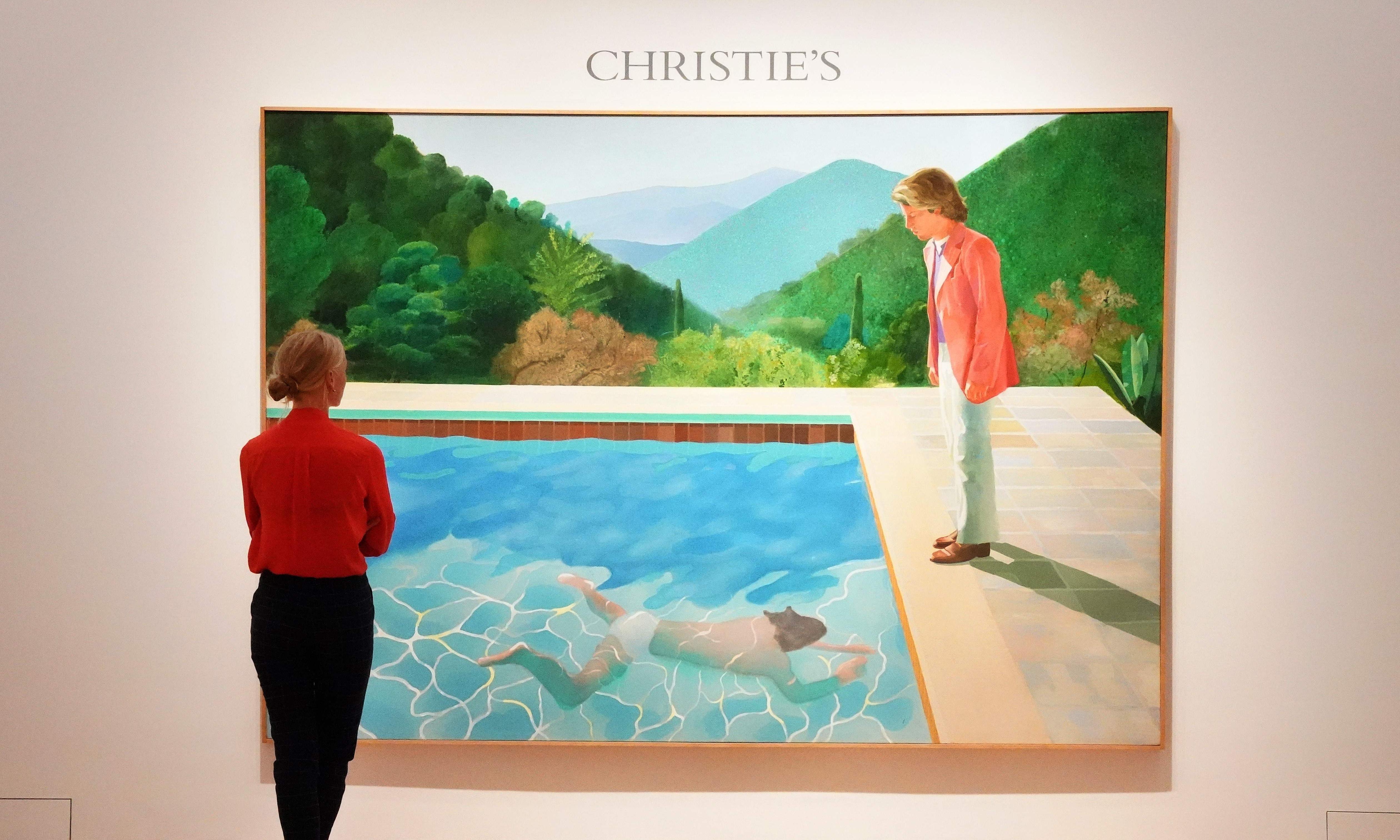 David Hockney painting earns record $90.3m for living artist