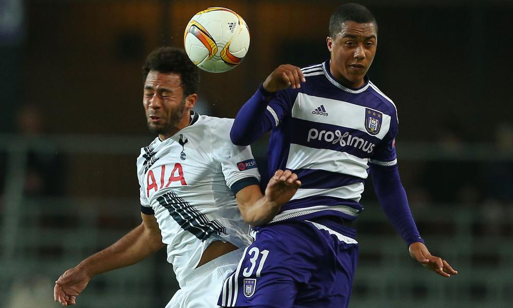 Youri Tielemans, pictured playing for Anderlecht against Spurs, has joined Monaco.