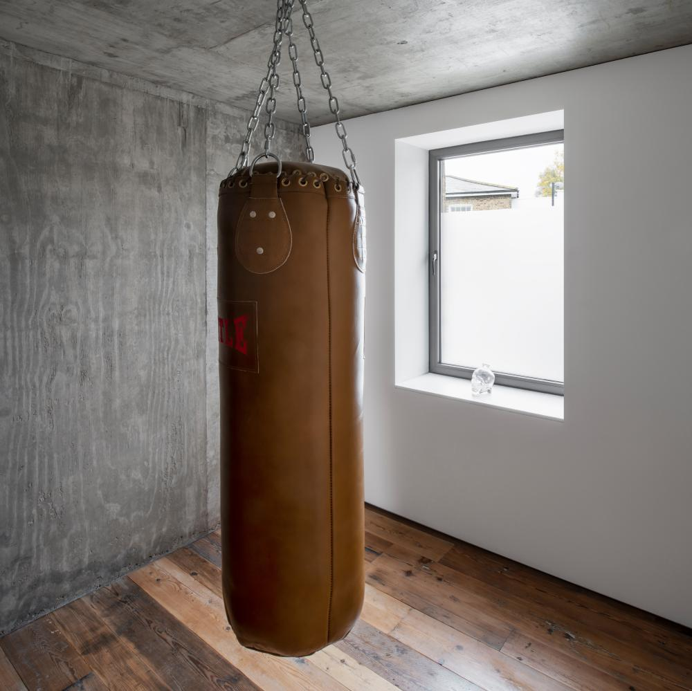 Sue Webster's punch bag. She's an avid kickboxer.