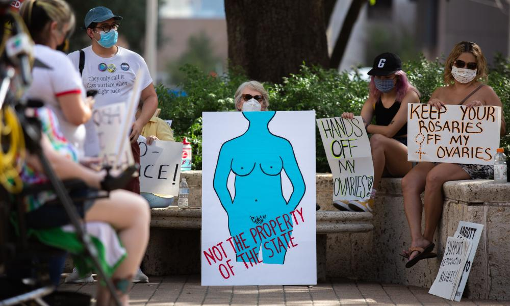 Protests in Houston against the Texas abortion ban.