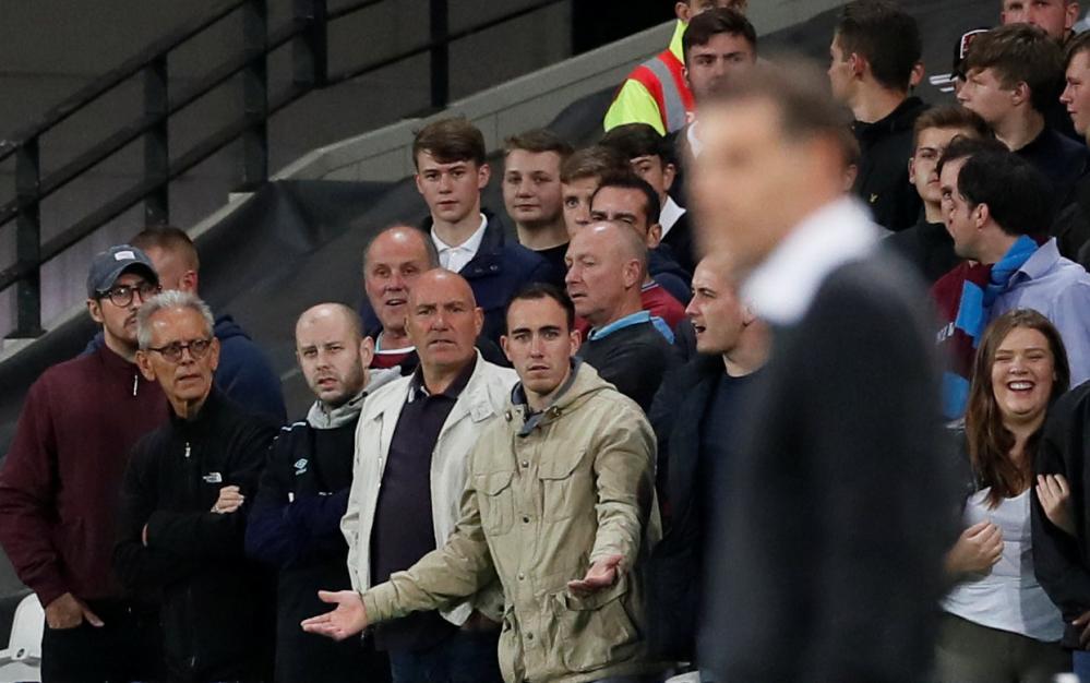West Ham United fans question manager Slaven Bilic.