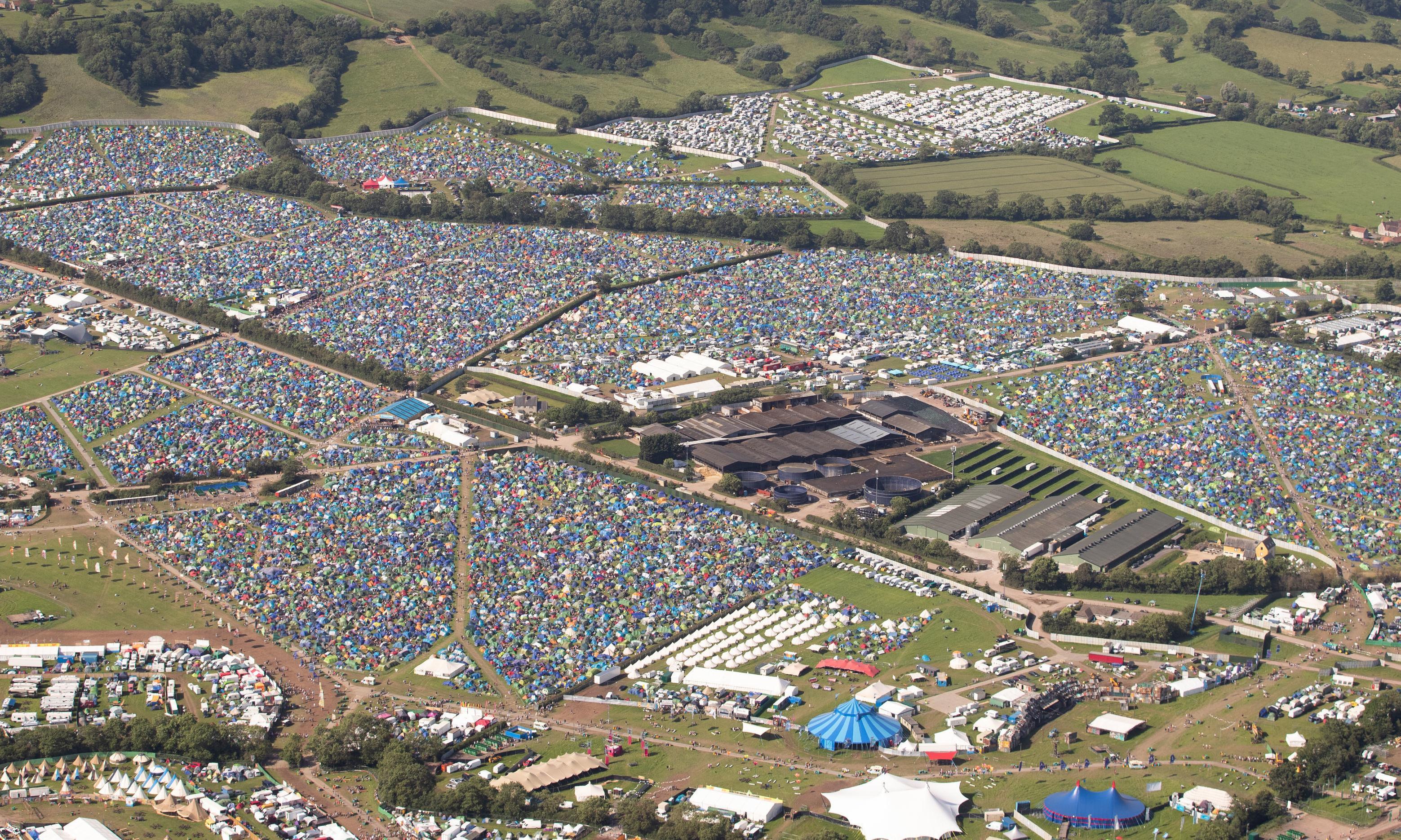 Glastonbury festival security guard found dead in tent