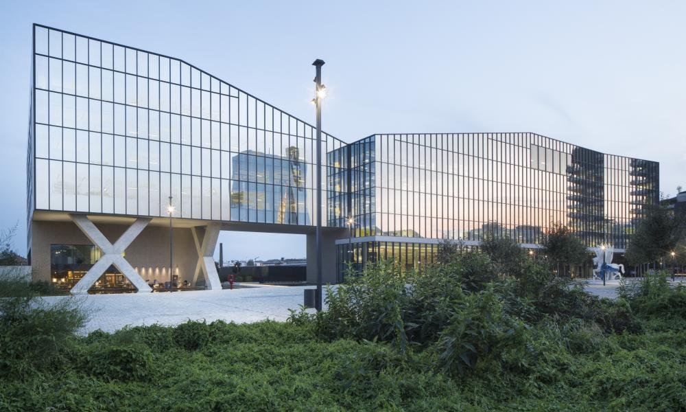 The exterior of the Symbiosis Milan project.