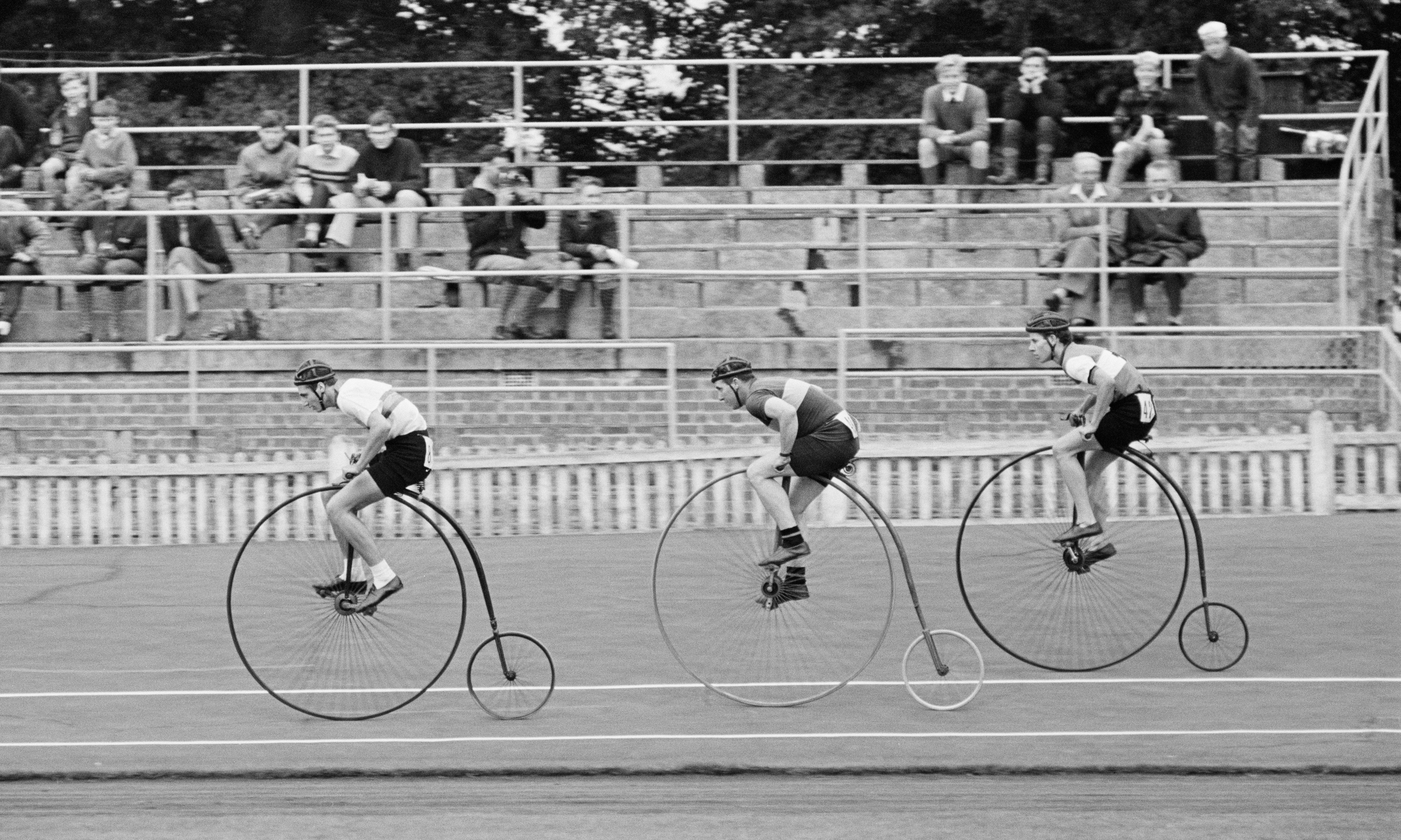Buy a classic sport photograph: penny farthing racing