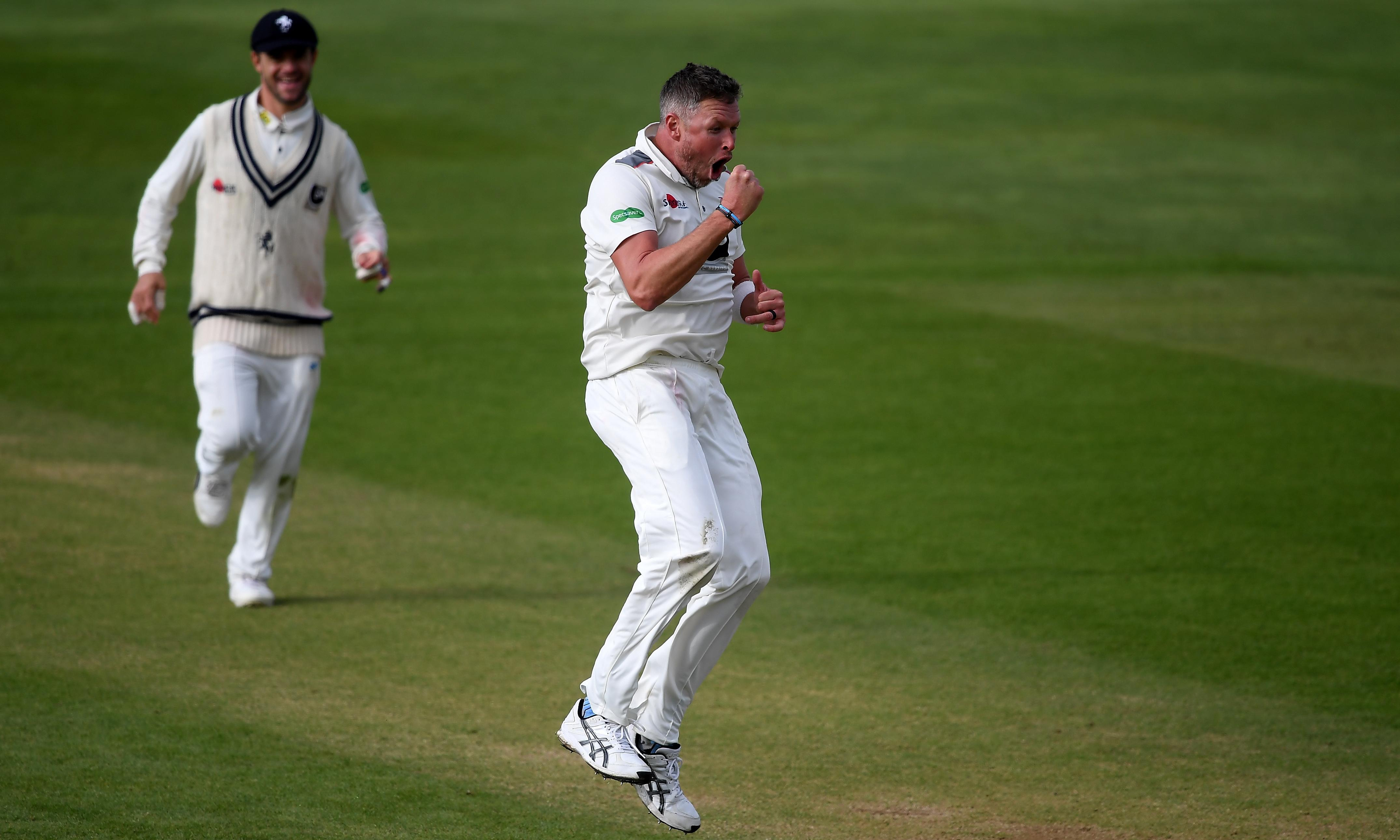 Kent in control at Taunton with help from Mitchell Claydon