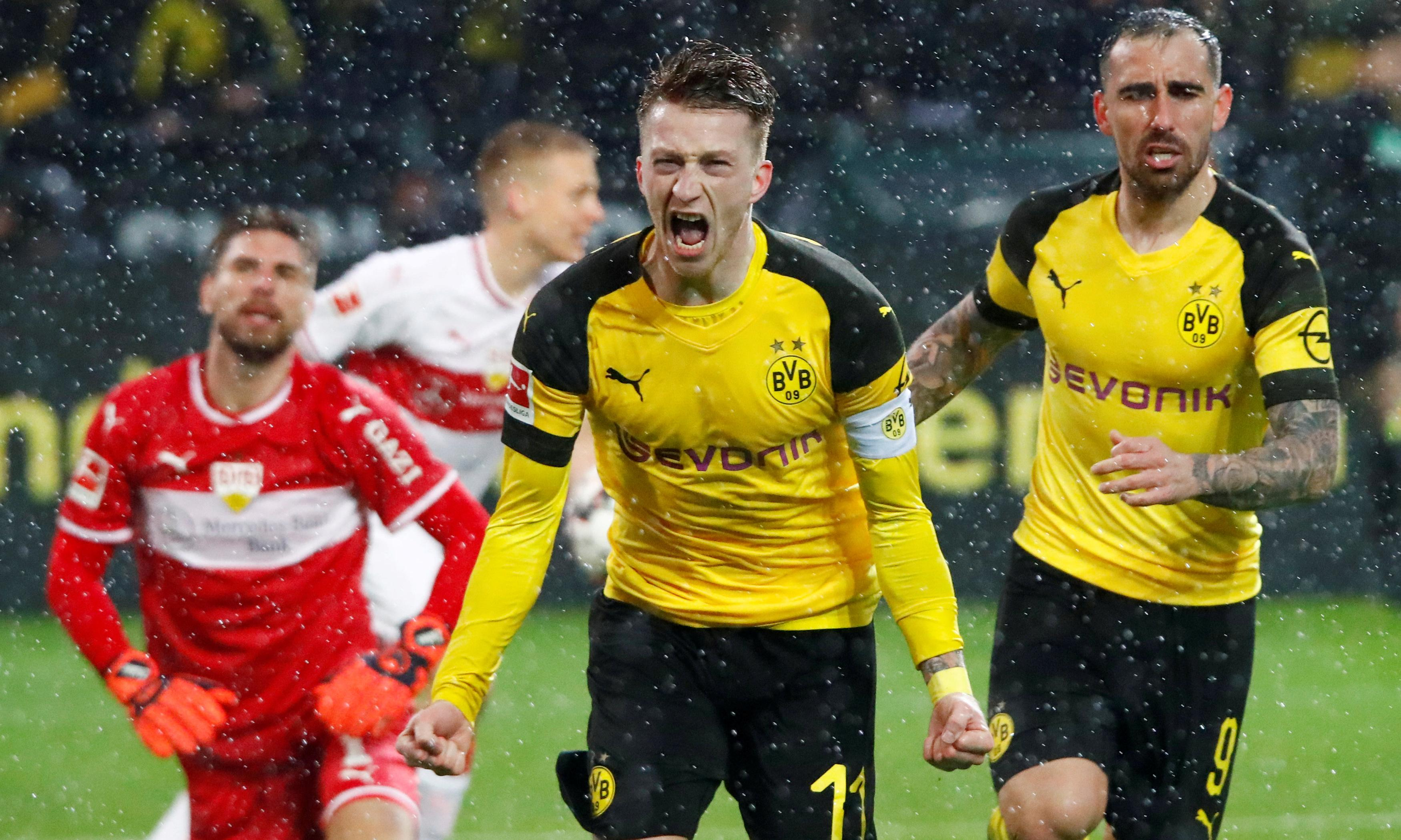 European roundup: Marco Reus sends Dortmund top with nailbiting late show