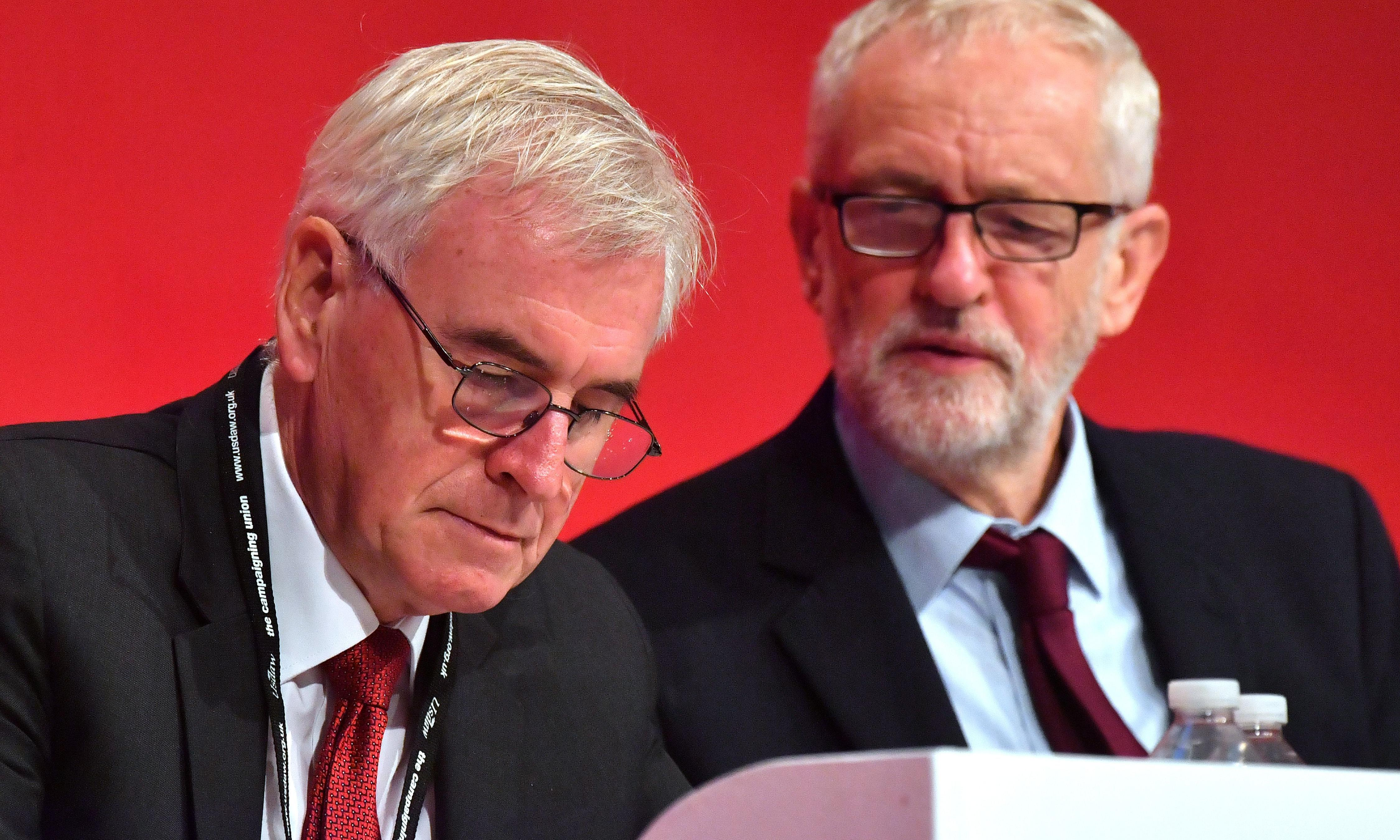 McDonnell: I can't see Corbyn staying on if Labour loses election