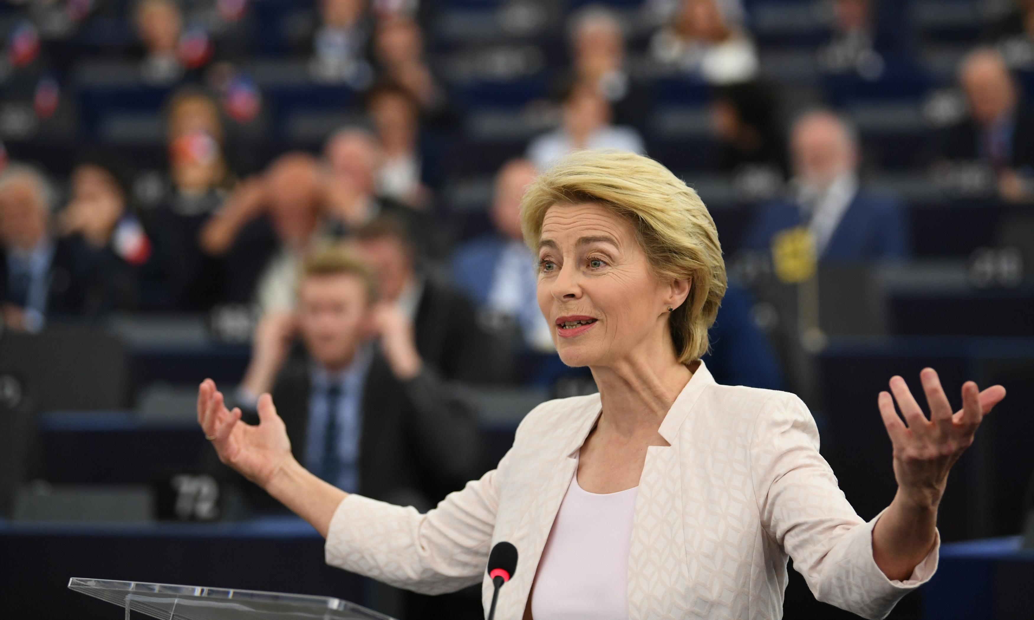 Candidate for top EU job touts gender equality ahead of vote