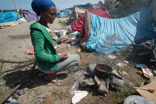 migrant life in calais     jungle refugee camp   a photo essay   uk    those who stay in the camp more than a few days are near the bottom of the migration food chain