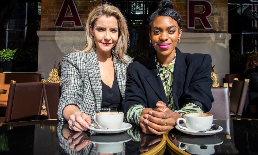 Super shoppers ... Helen Skelton and Sabrina Grant.