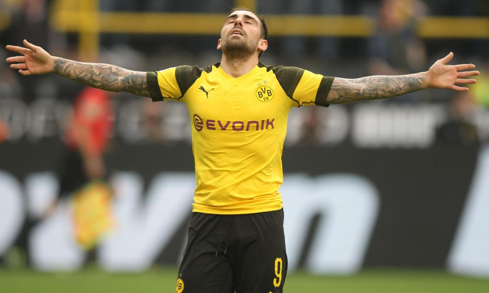 Paco Alcácer scored twice after the clock had ticked past 90 minutes.