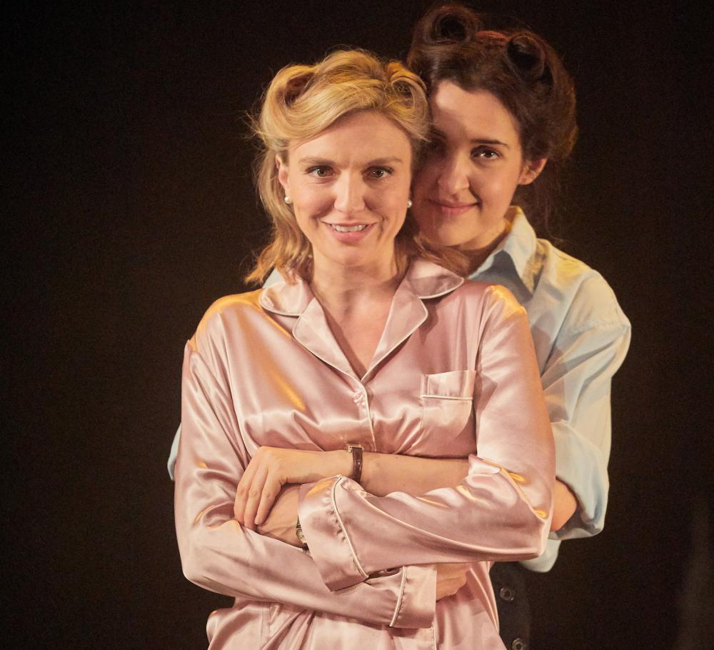 Guilt-free exhilaration ... Florence Roberts as Helen and Phoebe Pryce as Kay.