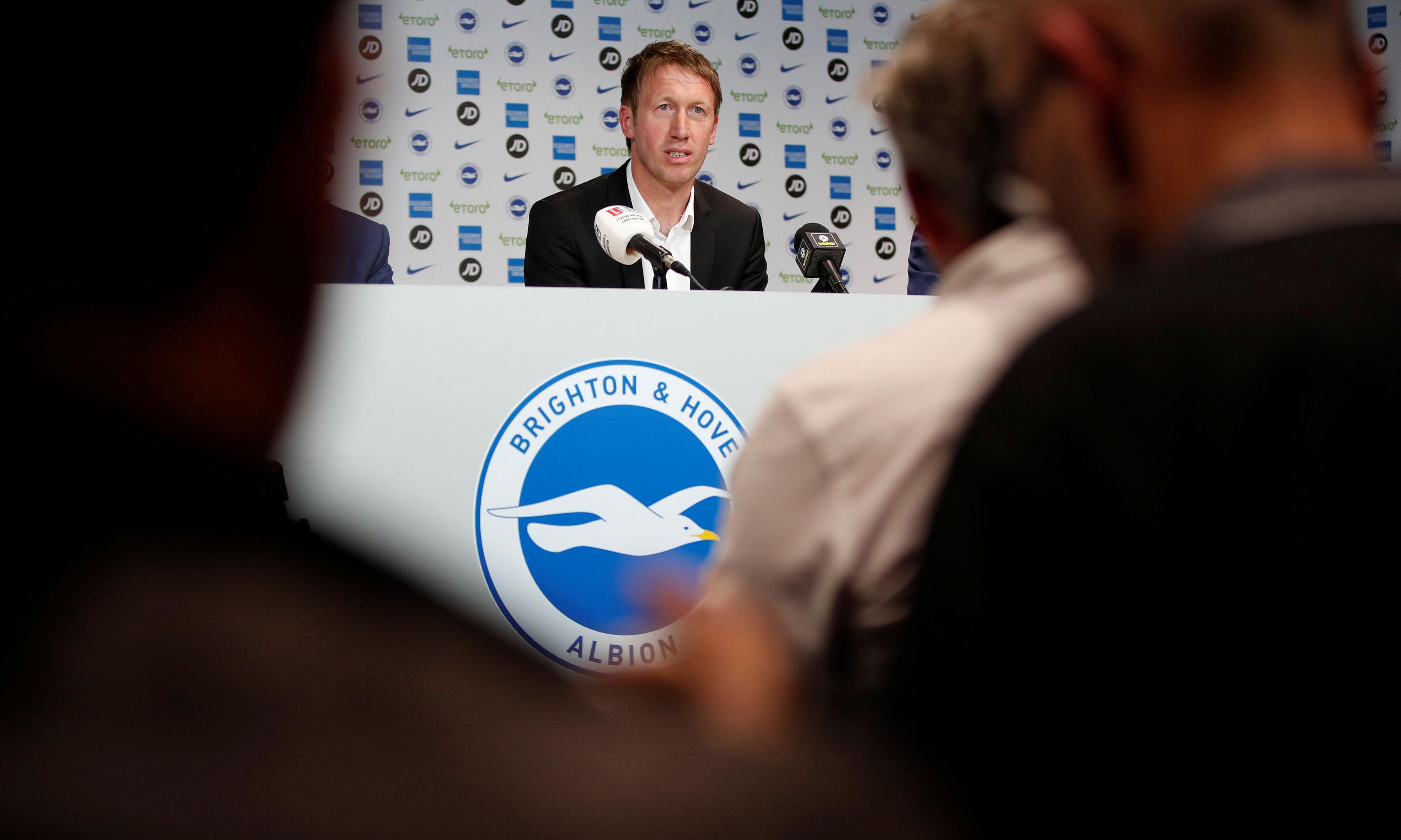 Graham Potter's appointment is not a gamble, says Brighton's owner