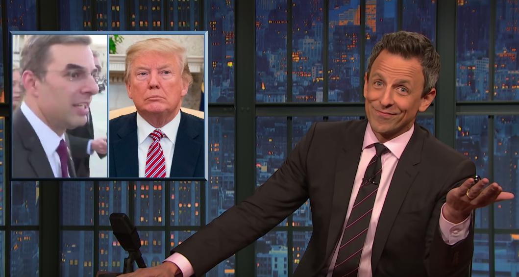 Seth Meyers on Trump: 'Treat him like he's a grandpa in a nursing home'