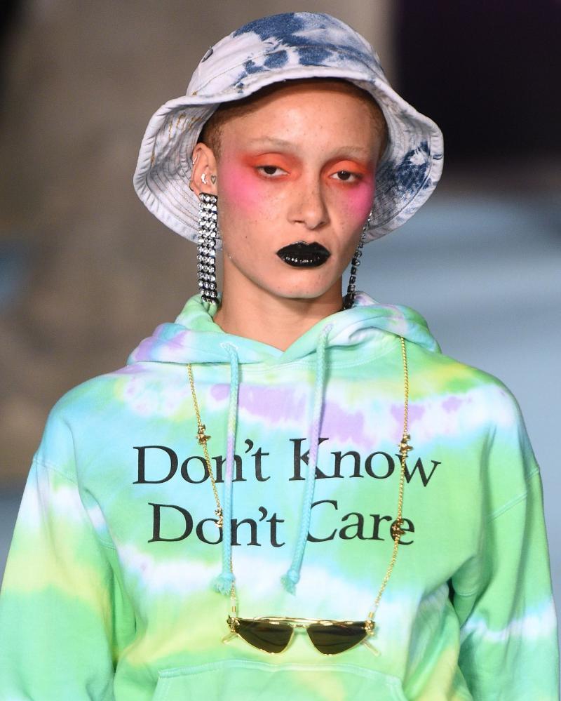 A tie-dye Ashley Williams ensemble from London fashion week 2018.