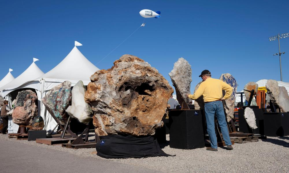 The Tucson Gem and Mineral Show in 2012.