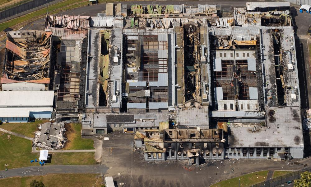 Damage to New Zealand's Waikeria Prison, after a six-day standoff that ended on 3 January 2021
