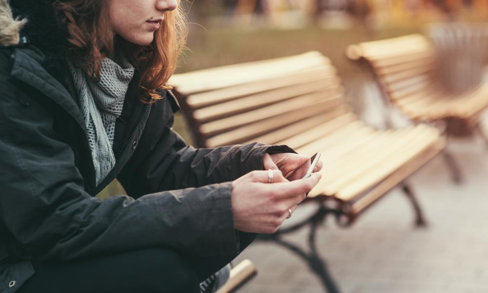 Stock photo of teenage girl feeling depressed