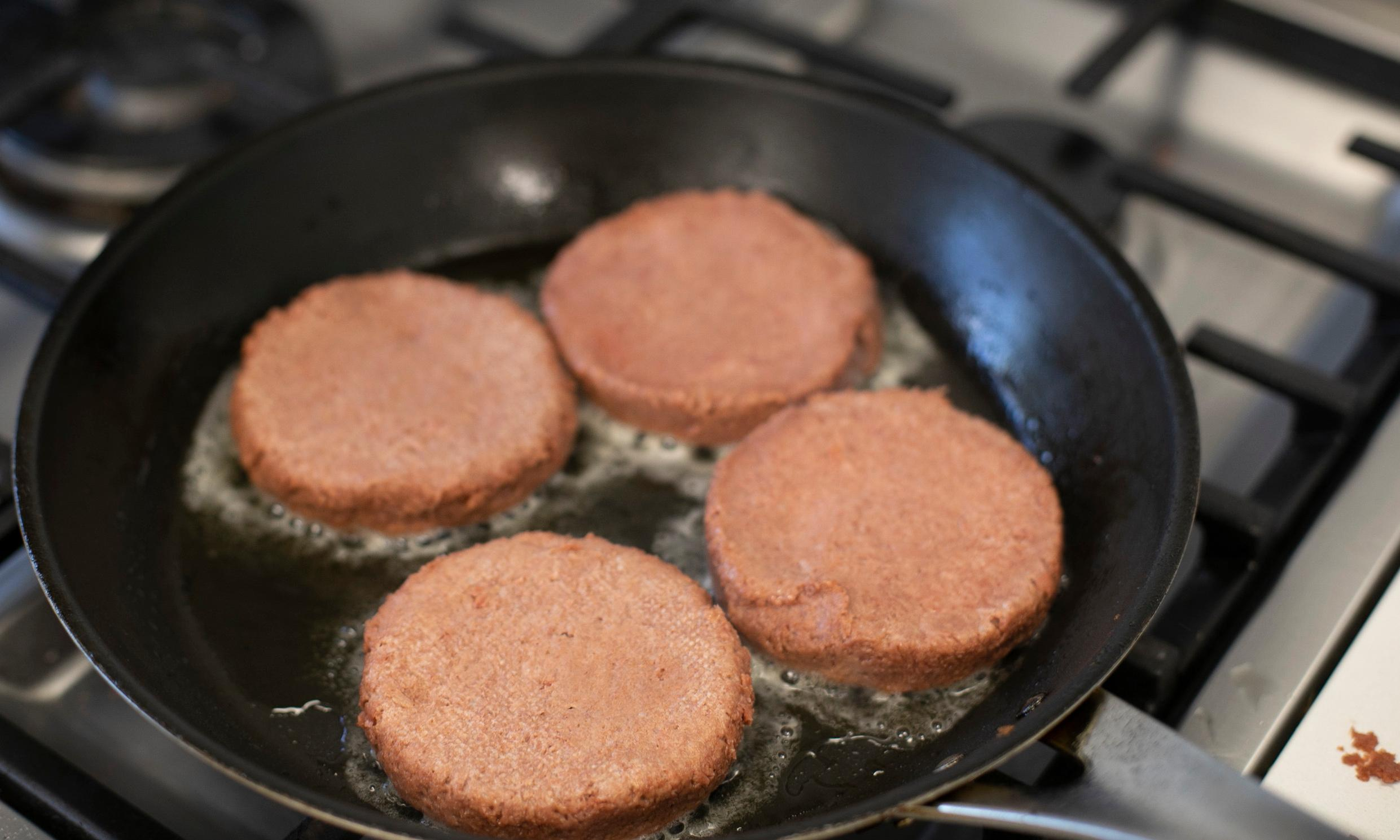 Fake meat taste test: 'They had to keep running away from the pan to gag'