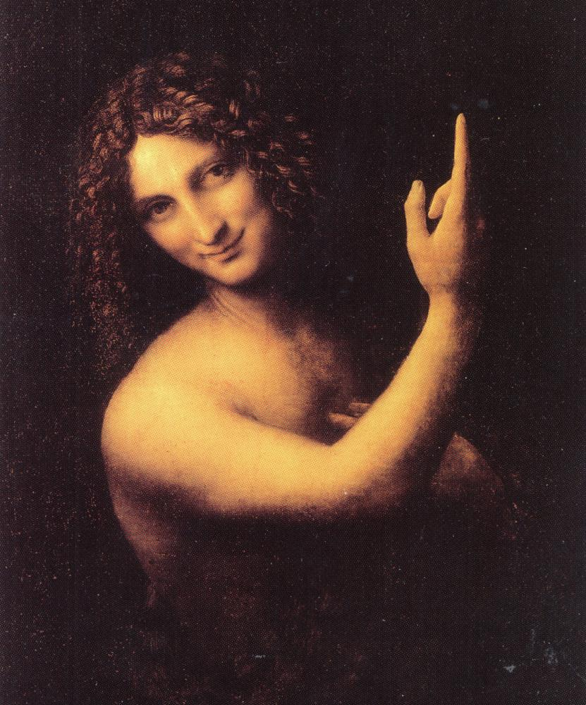 Owned by Charles I … Leonardo da Vinci's St John the Baptist.