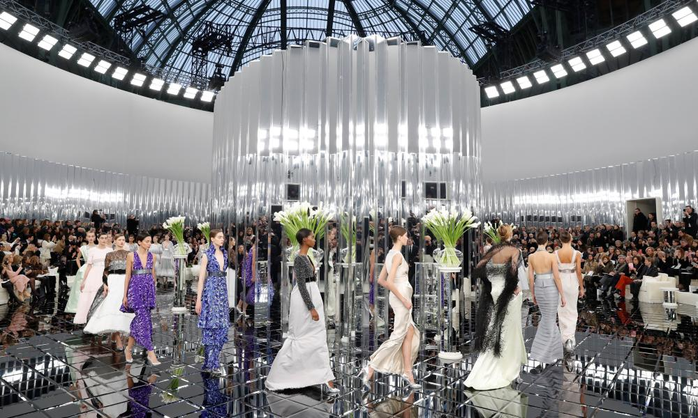 Chanel's setting for the show was inspired by the British interior designer Syrie Maugham.