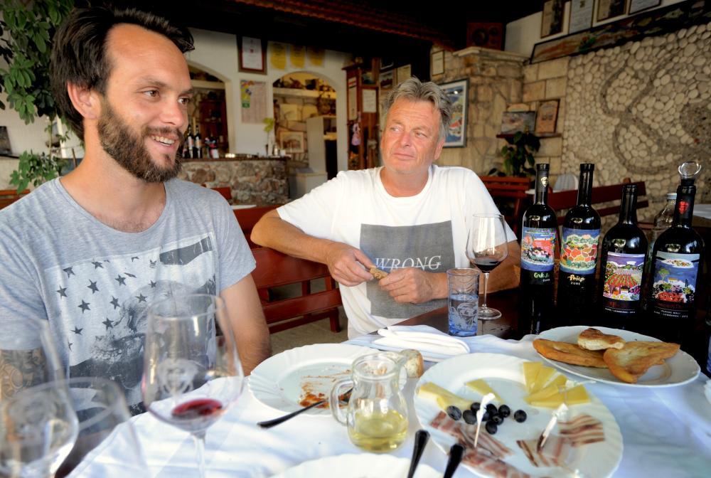 Marko and Bartul Batistić of the Zure Winery Lumbarda Korcula Croatia